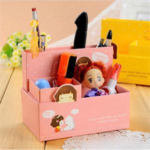 2014 New BL House Keeping DIY Folding Paper Storage Box Organizer Fashion Jewelry Container Desk Decor LB(China (Mainland))