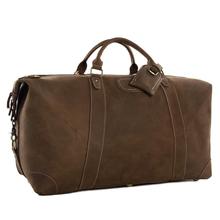ROCKCOW Super Large Genuine Travel Bag Italian Leather Weekender Duffle Bag DZ07(China (Mainland))