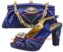 Italian Shoes With Matching Bag High Quality For party wedding Italy Shoes And Bag For Evening Free Shipping JB05  38-43