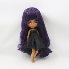 Blyth Nude Doll For Series Deep Purple Hair Suitable For DIY Change BJD Toy For Girls(China (Mainland))