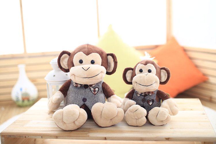 New Arrival Cute Design Monkey Plush Toy Soft Stuffed Birthday Gift 40cm One Piece(China (Mainland))
