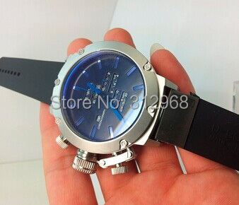 Italy navy designer left hand limited edition silicone rubber watch +papers and cards(China (Mainland))