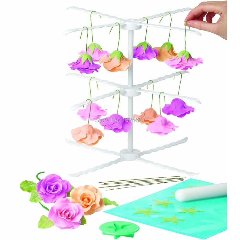 31CM Cake Decorating Sugarcraft Fondant Detachable Gum Paste Flower Drying Rack Air Dry Stand Baking Tools Gum Paste Flower Rack(China (Mainland))