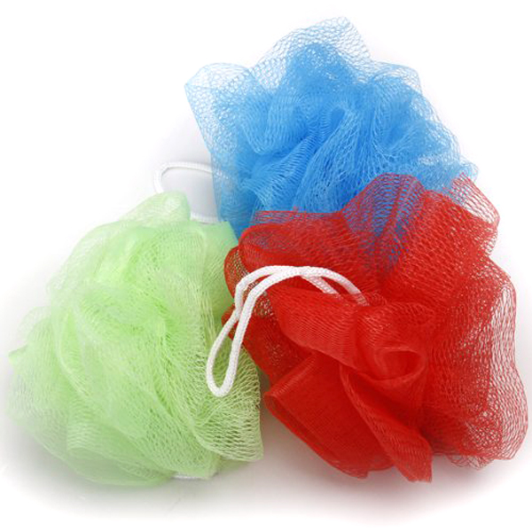 10pcs Bath Shower Body Exfoliate Puff Sponge Mesh Net Bath Balls Set (Random Color)