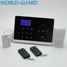 Android IOS APP 433Mhz Sensor Dual-network GSM PSTN Sim Call LCD Smart Dislay Touch Keypad Home Burglar Security Alarm