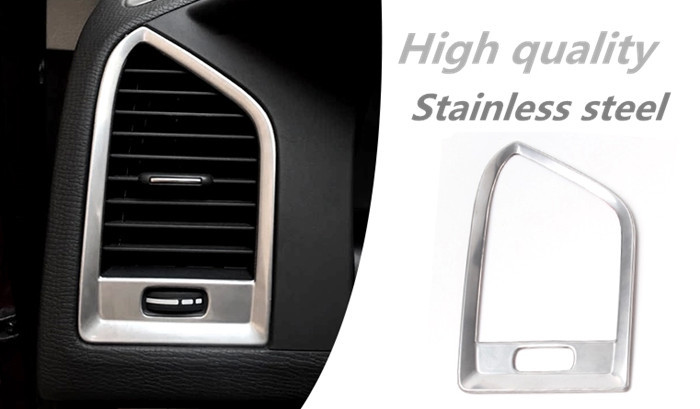 Car Air Conditioning Vent Decorative Covers Trim Air Outlet Chrome Stainless Steel Strip