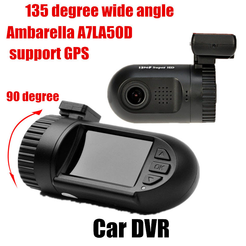 Free Shipping 135 degree wide angle Original Mini0805 Ambarella Camcorder Car DVR with GPS video recorder 1.5 inch TFT screen(China (Mainland))