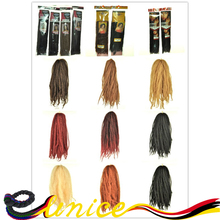 Free Shipping Cheap Afro Kinky Braids Synthetic Marley Twist Braiding Hair 100% Braiding 18inches Folded 20strands