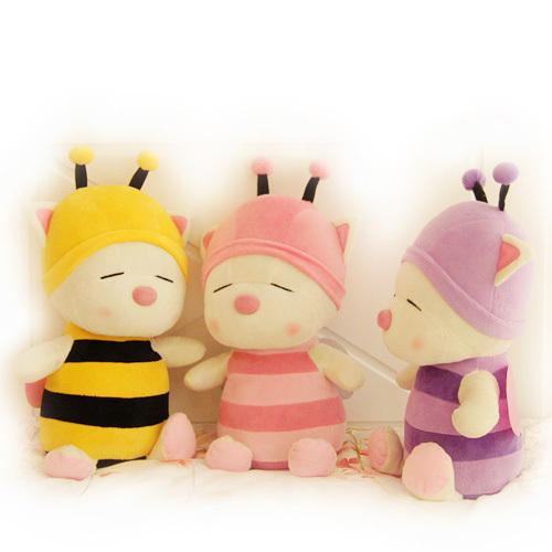 Sweet bear doll baby toys transfiguration Bee plush sitting height 35cm(China (Mainland))