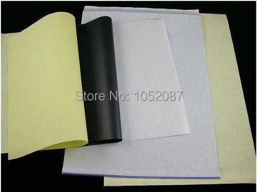 A3 размер 4 слоя татуировки тепловой трафарет передаче бумага a3 размер тепловой копировальная машина бумага