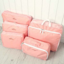 5pcs In One Set Large Travelling Storage Bag Luggage Clothes Tidy Organizer Pouch Suitcase cosmetiquera bolso cosmetic bag(China (Mainland))
