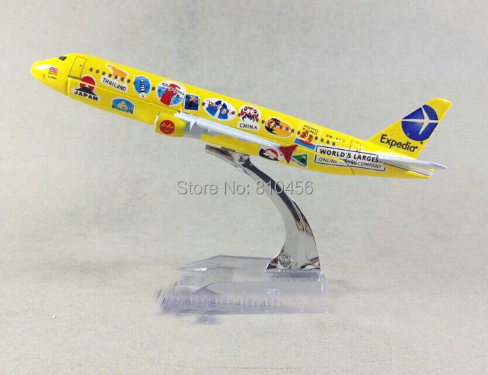Free Shipping Air Asia model  A320 16cm 1:400 metal airplane models,rc plane model aircraft