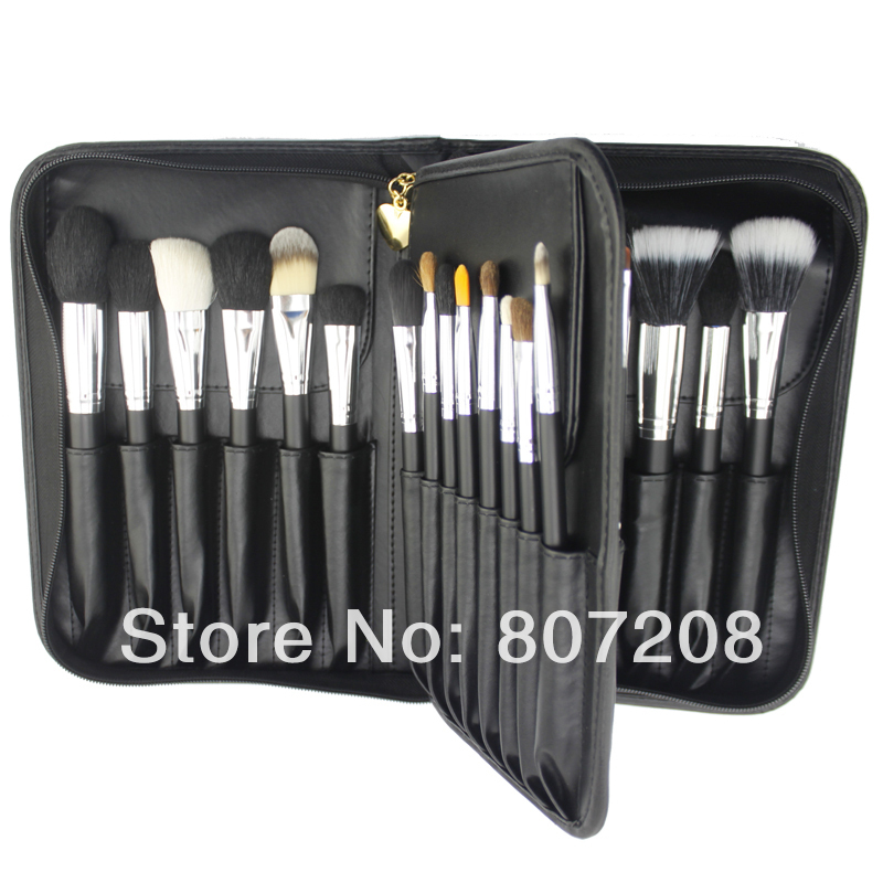 TOP 29 pcs Makeup Brushes set, High quality Professional make up brush set with leather cosmetic bag case<br><br>Aliexpress
