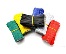 F292 20pcs wire electronic insulated stud tinned galvanized color wire 24AWG 10CM cable jump wire jumper for arduino(China (Mainland))
