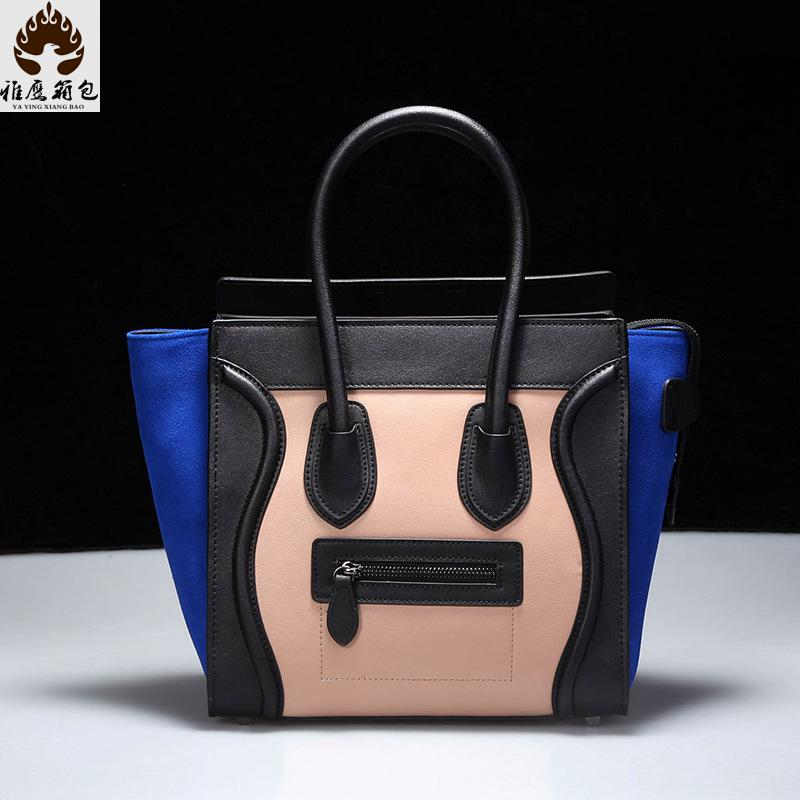 2016 Bag Brand Woman Hand Genuine Leather Bag Genuine Leather Women Messenger Bags Women Famous Brands Handbags Ladies Handbag<br><br>Aliexpress