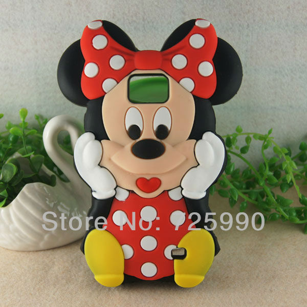 3D Red Mickey Mouse Silicon Soft Cover Phone Case For Samsung I9100 Galaxy SII S2 Free Shipping(China (Mainland))