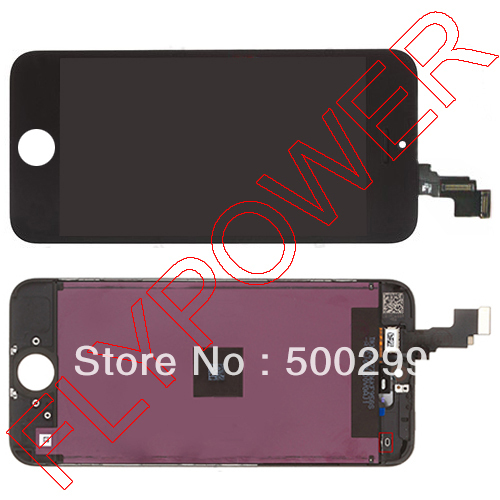 For iPhone 5c LCD Screen Display with Touch Screen Digitizer +frame Assembly by free shipping; black; 100% original