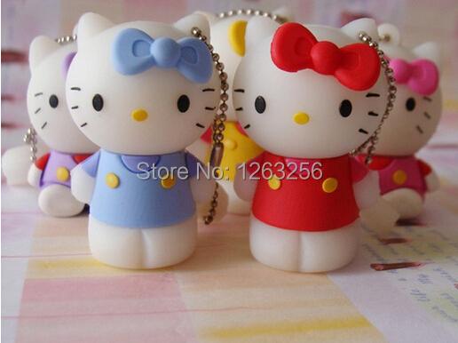 Free shipping CAT 8GB 16GB 32GB 64GB usb flash drive cartoon usb open drives kt cat kitty usb flash disk stick(China (Mainland))