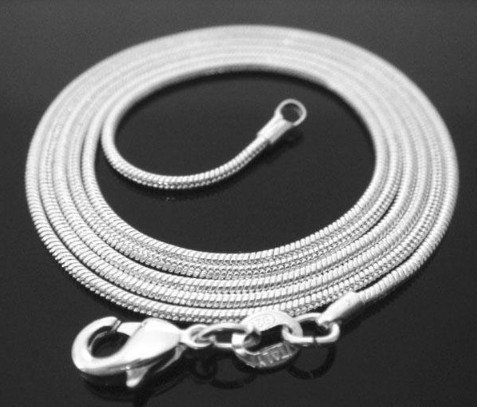 Hot~Promotion!Free shipping 925 sterling silver snake necklace.fashion jewelry.chain necklace.