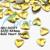 4mm Gold Heart Shape Metal Stud Rhinestones Handcraft DIY 3D Decoration Acrylic Nail Art Dropshipping [Retail] SKU:D0377