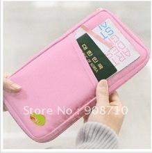 2016 Travel Passport Credit ID Card Holder Wallet Purse Receive bag Card bag purse Ticket clip Passport bag 6 color(China (Mainland))