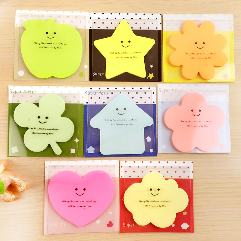 Cute Korean Kawaii Start Apple Post It Planner Stickers Memo Pad Sticky Notes Pads Stationery School Office Supplies Accessories(China (Mainland))