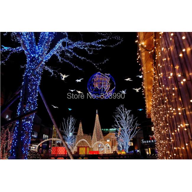 9-10M 100LED 220V EU plug outdoor holiday string lights RGB colorful Christmas Xmas Wedding Party Decorations Garland lamp(China (Mainland))