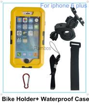 Smartphone Bike Bicycle Mount support de téléphone étanche housse pour iphone 6 Plus 5.5 «