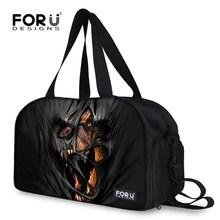Black Animal Dinosaur Lion Printed Men's Gym Sport Bag Multifunctional Outdoor Male Messenger Bags Fashion Hiking Shoulder Bag(China (Mainland))