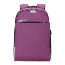 Aelicy рюкзак для ноутбука с usb-зарядкой рюкзак для путешествий мужской школьный рюкзак для отдыха Противоугонный Рюкзак Mochila(China)