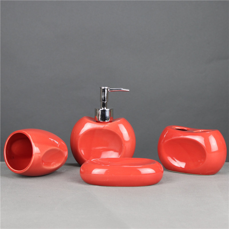 2016 Concave Hollow Ceramic Bath Toiletries 4Pcs/Set Bathroom Accessories Set Sanitary Ware Gift(China (Mainland))