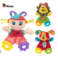 HOT Baby Infant Soft Appease Toys Towel Playmate Calm Doll Teether Developmental Toy Lion Dog