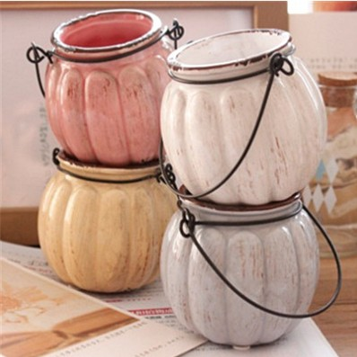 Free Shipping New 2015 Zakka Vintage Ceramic Pumpkin Vase Min Pumpkin Vases For Home Decoration(China (Mainland))