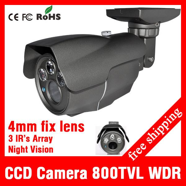 "1/3"" Effio V Bullet CCTV Camera OSD test menu WDR Sony CCD Security Camera 960H 800tvl 3pcs Array IR Infrared Day Night vision(China (Mainland))"