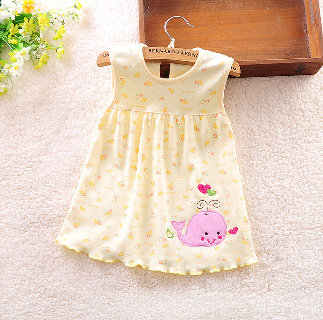 Baby Dress Princess Girls Dress 0-1years Cotton Clothing Baby Infant Summer Clothes