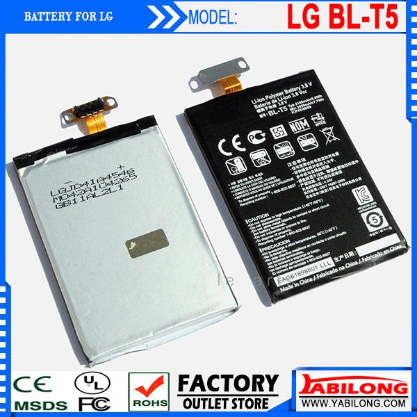 Brand New Good Quality BL-T5 Mobile Phone Battery Batteries for LG E960/nexus4/ E970/ E975/F180/ E973 Battery(China (Mainland))
