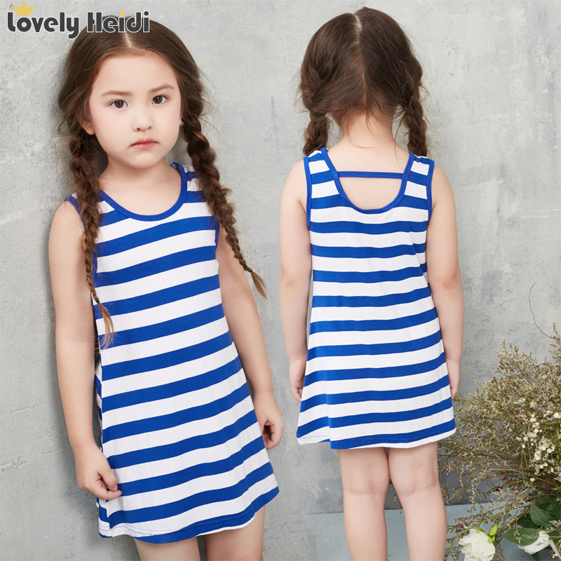 2016 latest summer girls striped dress children Summer Girl Dress Tutu Dresses For Girls(China (Mainland))