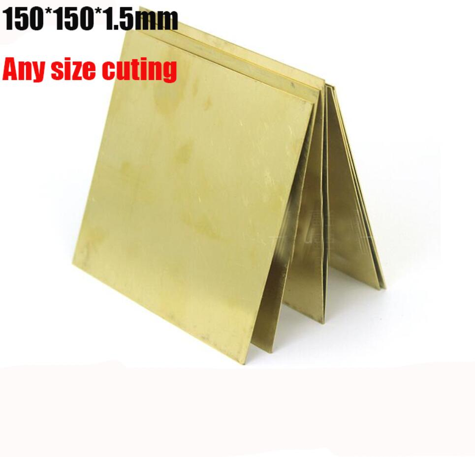 150*150*1.5mm DIY Knife repair Computer tools PCB brass block sheet pieces Thin slice Brass paper Plate Manual material <br><br>Aliexpress