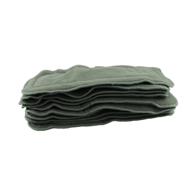 Amazing 10pcs 4 layers Bamboo Charcoal Inserts Washable Cloth Diaper For Baby Diaper