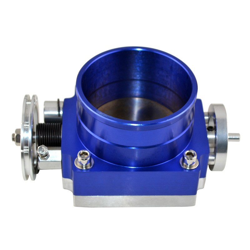 TOP Quality UNIVERSAL 90mm THROTTLE BODY throttle valve blue Air intake Throttle Body Spacer - Speed Evil(China (Mainland))
