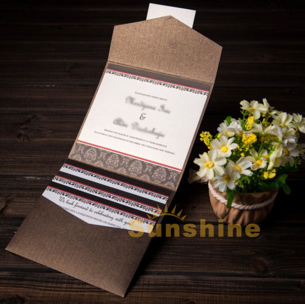 Wedding invitation card, wedding cards, NK-155, include RSVP and customised printing, free shipping(China (Mainland))