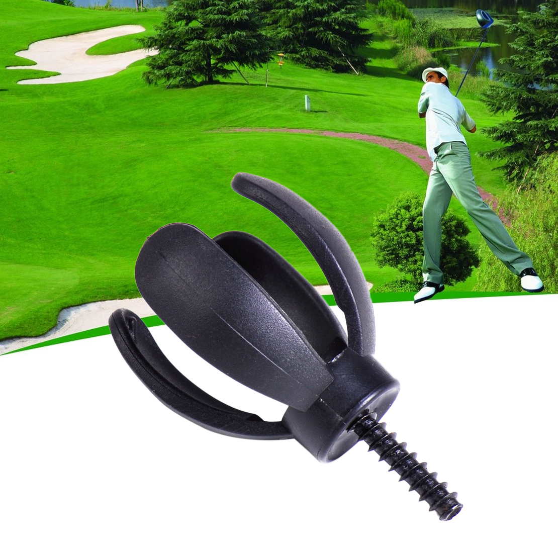 1pc New 4 Prongs Black Durable Golf Ball Grabber Pickup Claw Pick Up Tool Retriever 4-Prong for Putter Grip Golf Training Aid(China (Mainland))