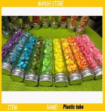 40ml Empty Clear Plastic Tube Bottle  Candy Bottle With Aluminum Cap Plastic Candy Container Bottle  Free Shipping 50pcs/lot(China (Mainland))