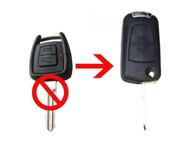 For Vauxhall For Opel Astra Vectra Zafira 2 Button CONVERSION Flip Remote Key Fob Case HU46(China (Mainland))