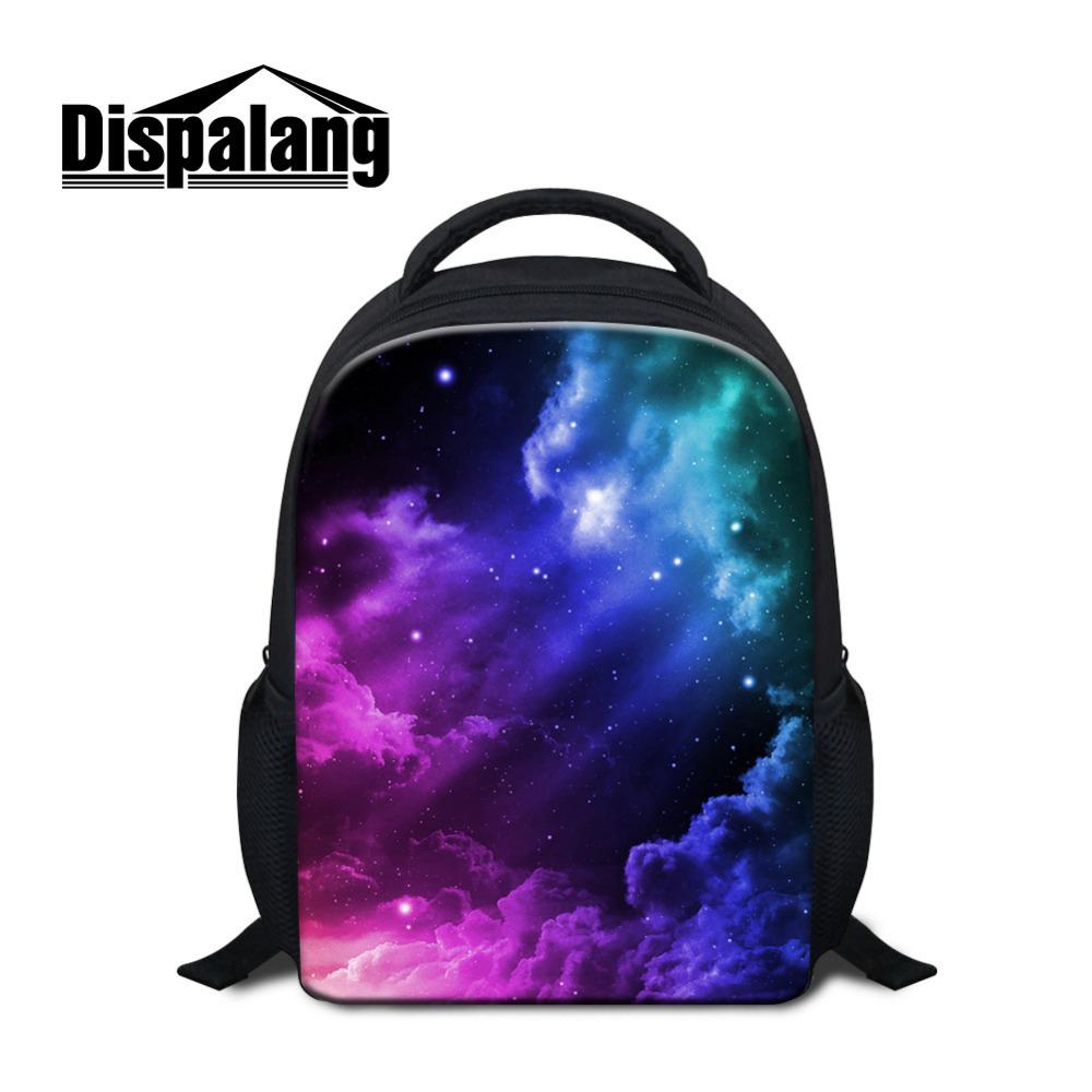Fashion Children School Bags Galaxy Star Universe Space Kids Backpacks Students 12 Inch Book Bags Kindergarten Schoolbag Mochila(China (Mainland))
