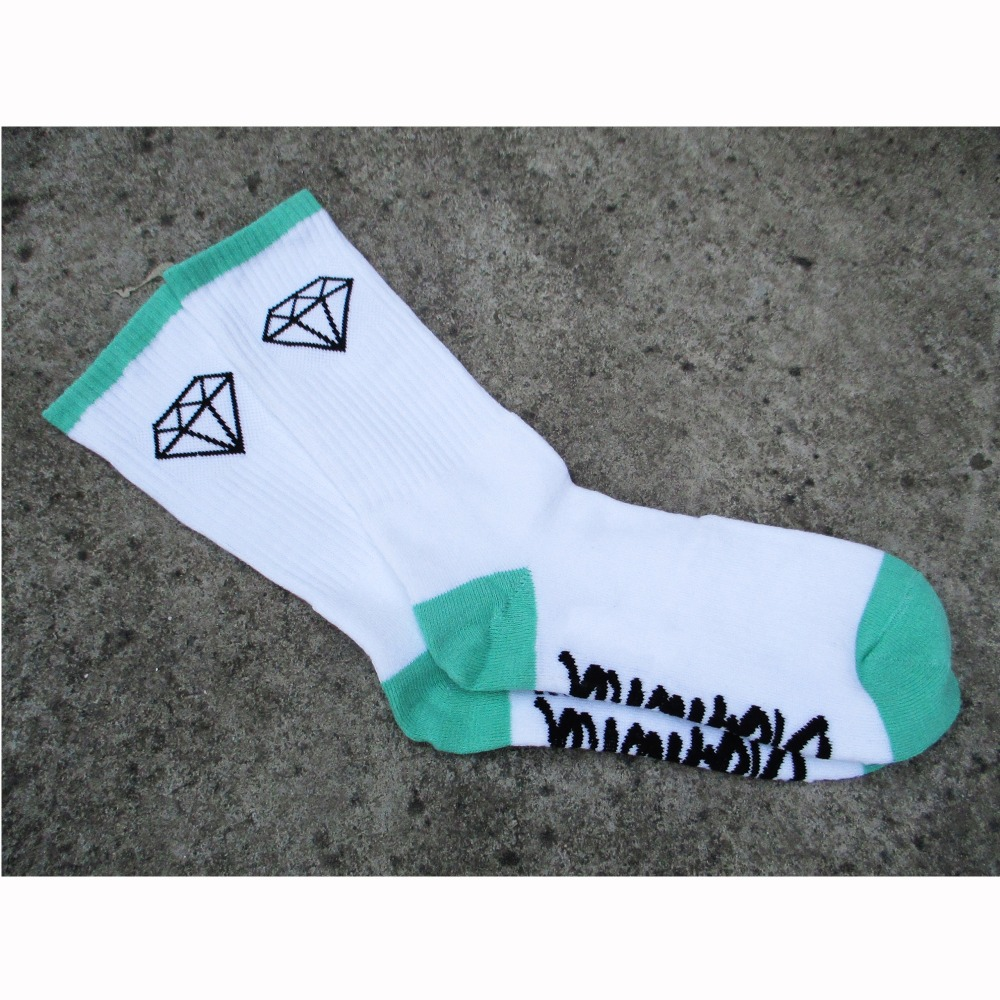 New Diamond calcetin terry skate basketball sport socks high quality cotton male half summer style brand