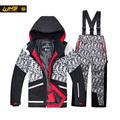 WHS 2016 New Boys ski suits teenager snow jacket windproof coats pant kids skiing suit waterproof