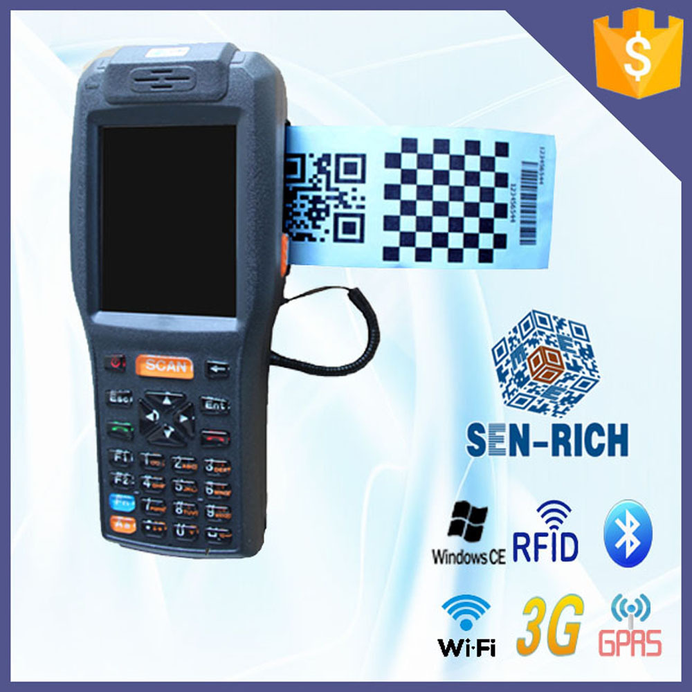 all-in-one smart handheld pda support wifi bluetooth GPRS 3g built-in thermal printer(China (Mainland))