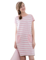 2017 New Arrival Women Summer Plus Size Striped Nightgown Ladies Soft Home Losse Sleepwear 1770