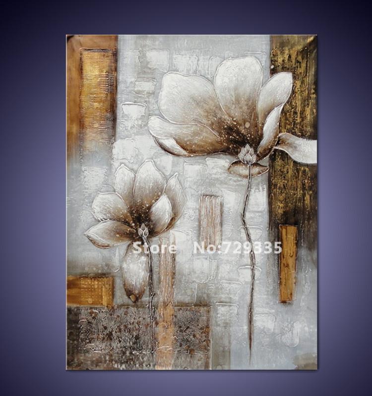 White Tin Wall Decor : Free shipping handpainted canvas wall art acrylic abstract